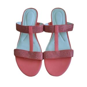 Laura Ashley Womens Pink Sandals Size 8.5 M